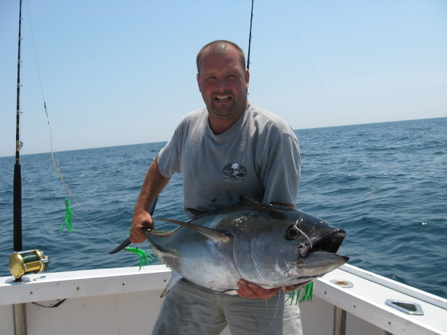 Blue crush charters inc about us for Montauk shark fishing